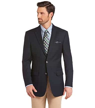 1a3d33db346f8 Traveler Collection Tailored Fit Solid Pattern Blazer - Big & Tall  CLEARANCE #1AZ8
