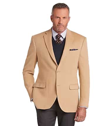 5c55ae514 Executive Collection Traditional Fit Camelhair Blazer CLEARANCE #1JAZ