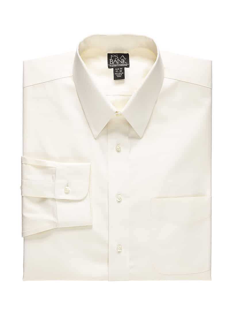 Traveler Collection Slim Fit Point Collar Dress Shirt