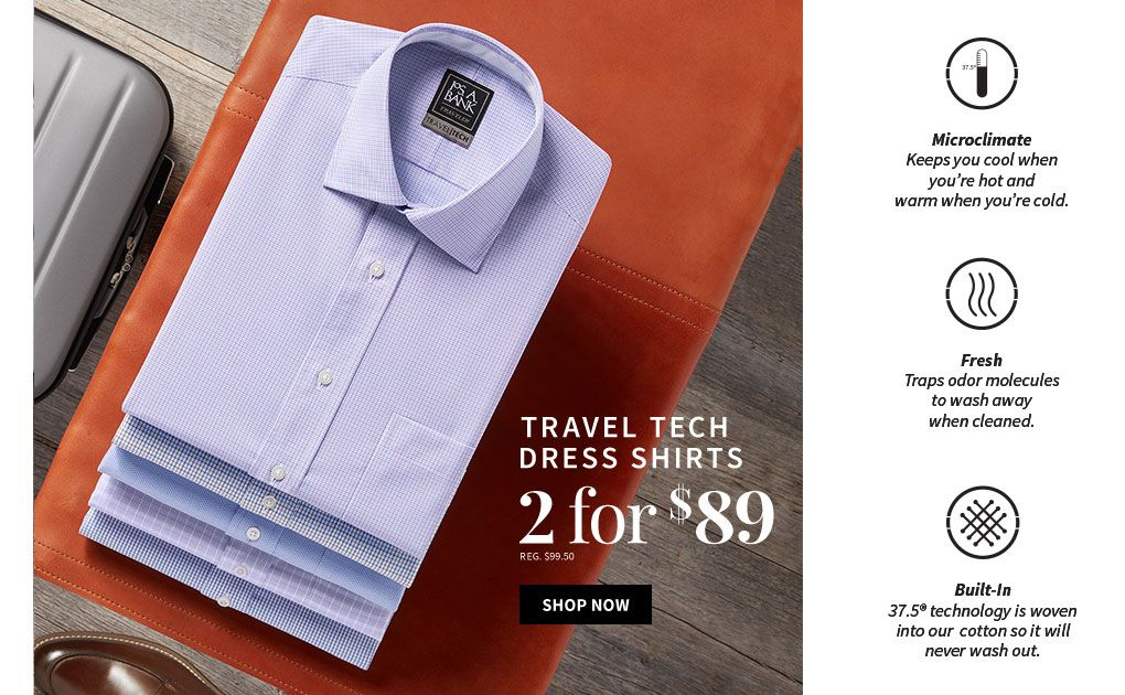 78471f285b23 2 for  89 Travel Tech Dress Shirts