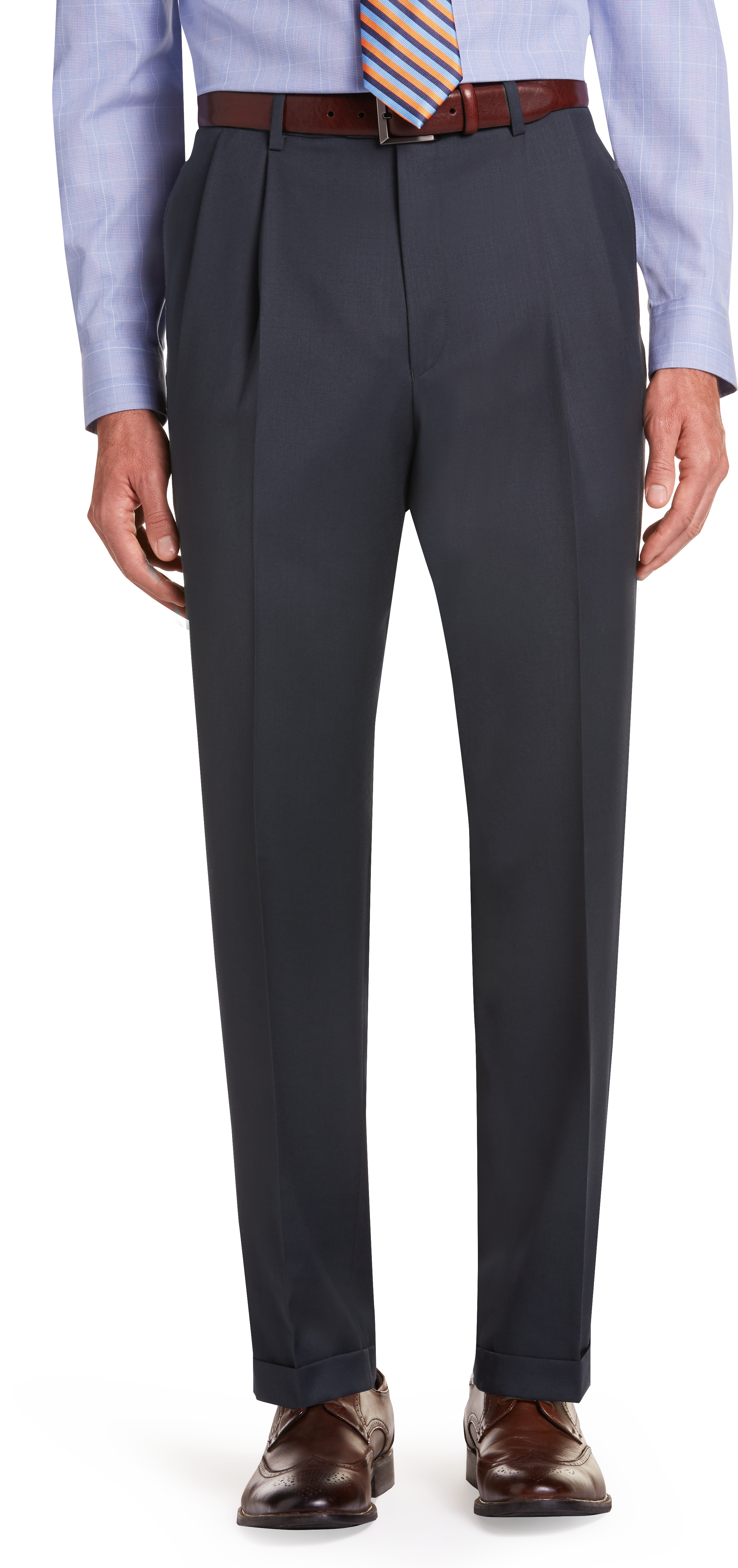 aae1ff101 Executive Collection Traditional Fit Pleated Front Dress Pants - Executive  Dress Pants