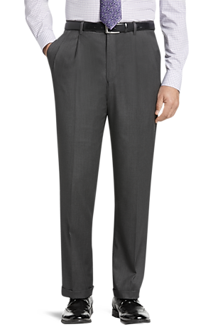 Men's Clearance, Signature Gold Collection Traditional Fit Dress Pants - Big & Tall CLEARANCE - Jos A Bank