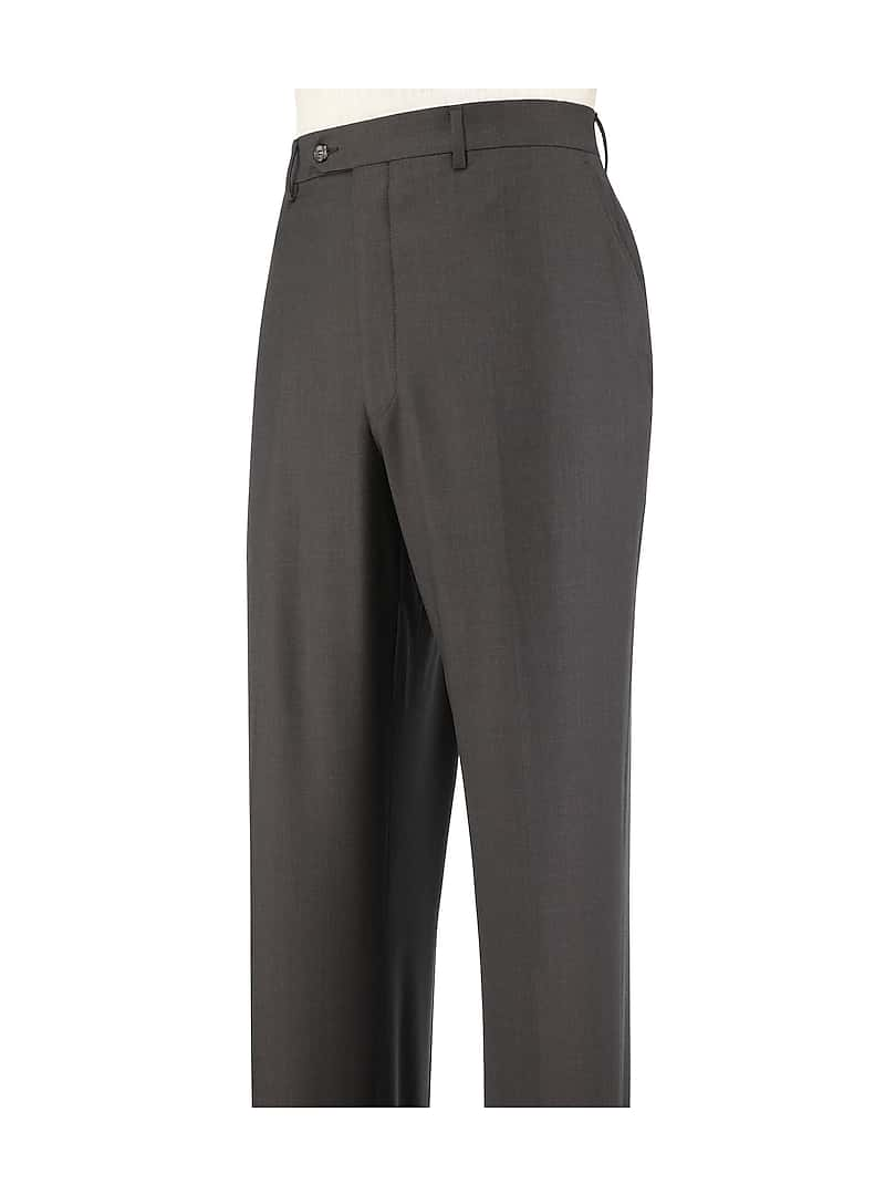 Jos. A. Bank Traveler Collection Tailored Fit Flat Front Dress Pants