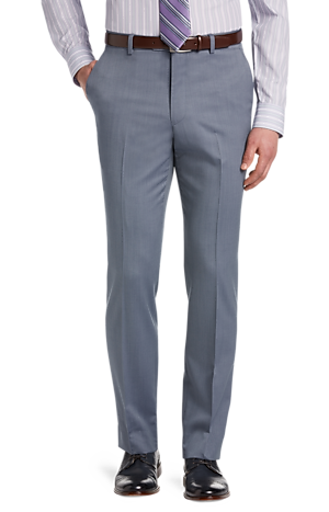 Men's FLYOUT_COLLECTION, Signature Collection Tailored Fit Flat Front Dress Pants - Big & Tall - Jos A Bank