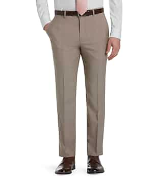 Signature Collection Tailored Fit Flat Front Dress Pants
