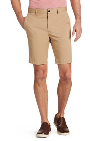 Men's FLYOUT_CATEGORY, 1905 Collection Tailored Fit Flat Front Twill Shorts - Big & Tall - Jos A Bank