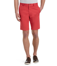 1905 Collection Tailored Fit Flat Front Twill Shorts (Big & Tall)