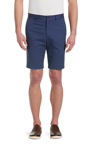 Men's Pants, 1905 Collection Tailored Fit Flat Front Twill Shorts - Jos A Bank