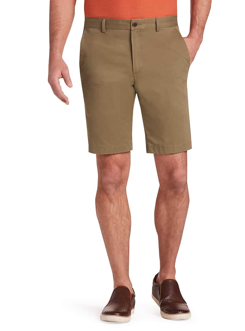 1905 Collection Men's Tailored Fit Flat Front Shorts