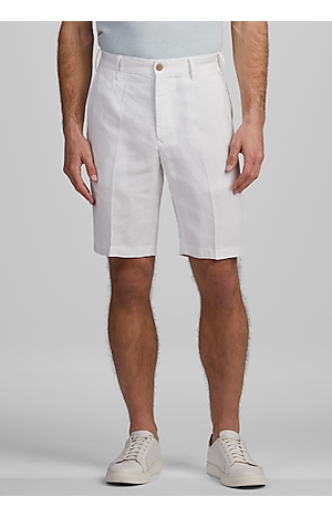 Men's FLYOUT_CATEGORY, Reserve Collection Traditional Fit Linen Flat Front Shorts - Big & Tall - Jos A Bank
