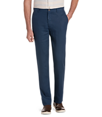 Reserve Collection Tailored Fit Flat Front Linen Pant