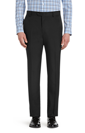 Men's FLYOUT_COLLECTION, Traveler Performance Tailored Fit Flat Front Casual Pants - Big & Tall - Jos A Bank