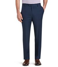 Men's Pants, Traveler Performance Tailored Fit Flat Front Pants - Jos A Bank