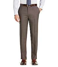 Traveler Collection Tailored Fit Flat Front Washable Wool Dress Pants