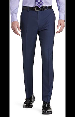 Men's Pants, Reserve Collection Tailored Fit Flat Front Dress Pants - Jos A Bank