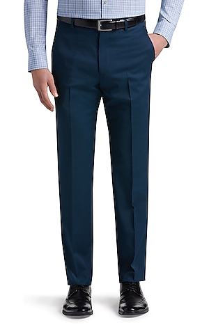 Men's FLYOUT_CATEGORY, Travel Tech Slim Fit Flat Front Pants - Big & Tall - Jos A Bank
