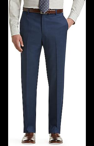 Men's Pants, Travel Tech Slim Fit Flat Front Dress Pants - Jos A Bank