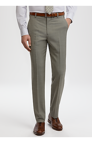 Men's FLYOUT_COLLECTION, Travel Tech Slim Fit Flat Front Dress Pants - Big & Tall - Jos A Bank
