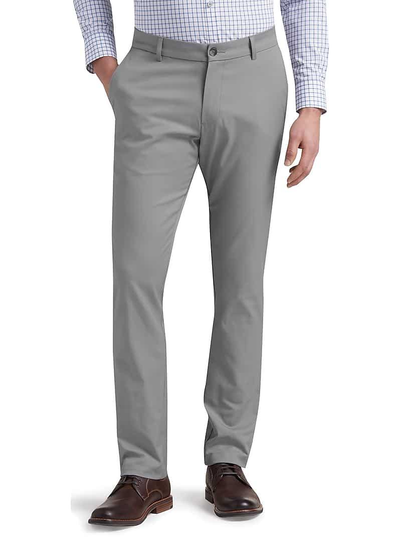 Travel Tech Slim Fit Flat Front Pants (Multiple Color)