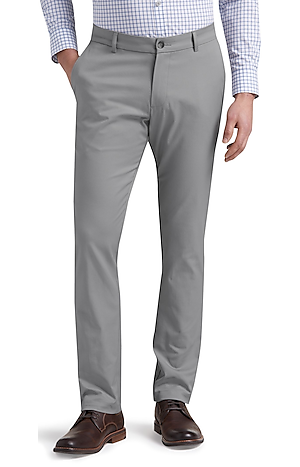 Men's FLYOUT_COLLECTION, Travel Tech Slim Fit Flat Front Pants - Big & Tall - Jos A Bank