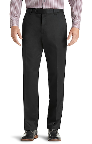 Men's FLYOUT_CATEGORY, Traveler Collection Traditional Fit Twill Flat Front Dress Pant - Big & Tall - Jos A Bank
