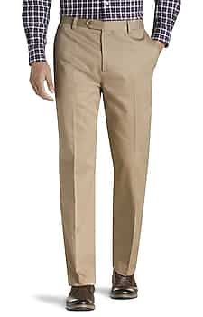 Traveler Collection Original Fit Flat Front Twill Pants