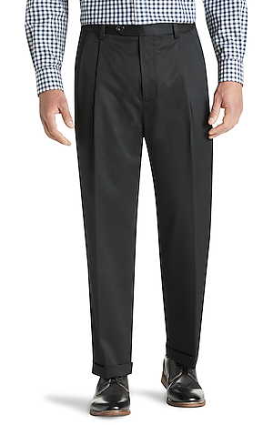 Men's FLYOUT_COLLECTION, Traveler Collection Original Fit Twill Pleated Front Dress Pant - Big & Tall - Jos A Bank