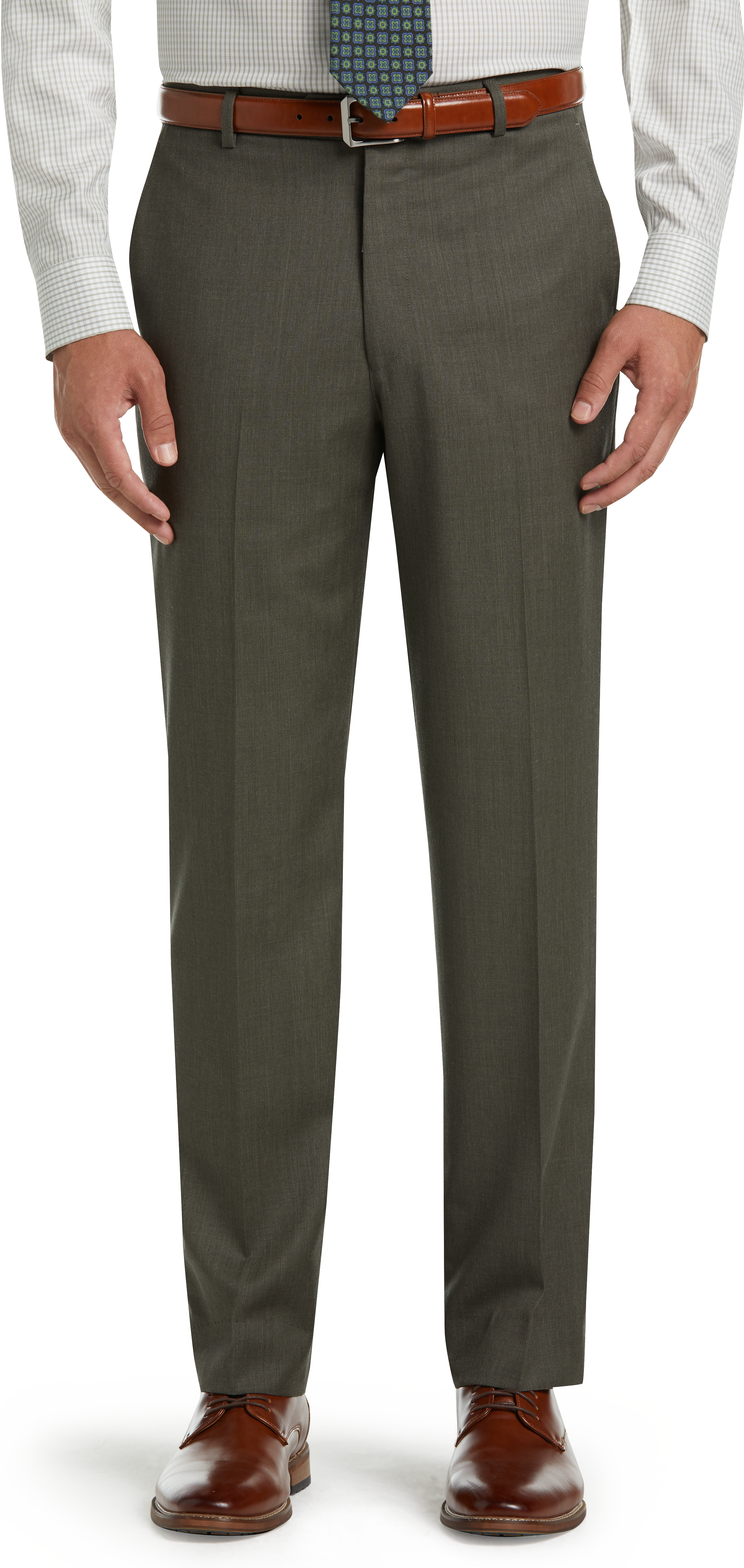 Executive Collection Tailored Fit Flat Front Dress Pants