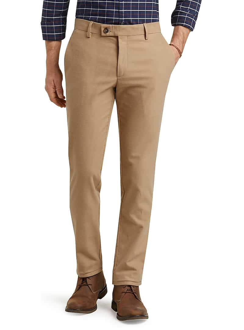 1905 Collection Moleskin Tailored Fit Flat Front Pants