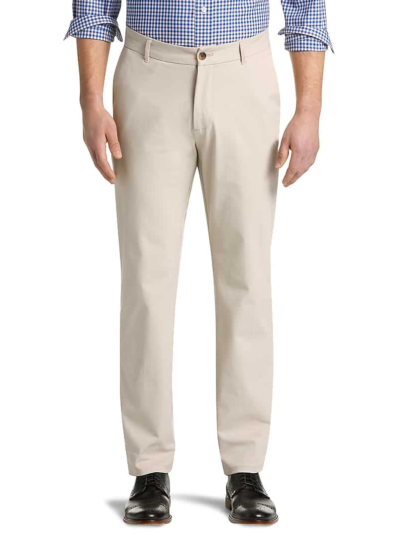 Traveler Collection Tailored Fit Flat Front Pants