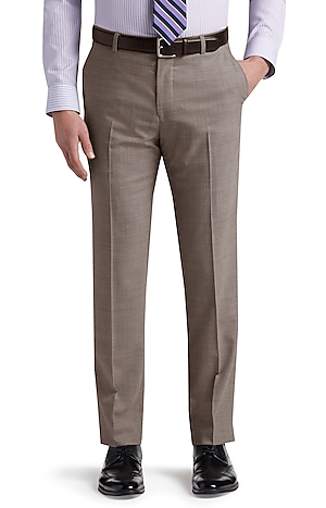 Men's Pants, 1905 Collection Tailored Fit Flat Front Dress Pants with brrr°? comfort - Jos A Bank