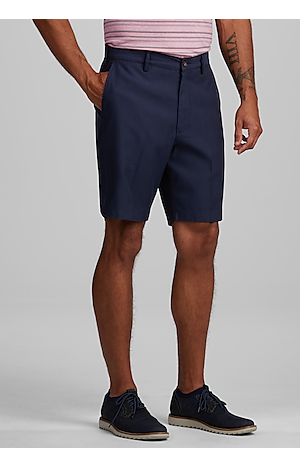 Men's Pants, Reserve Collection Tailored Fit Flat Front Shorts - Jos A Bank