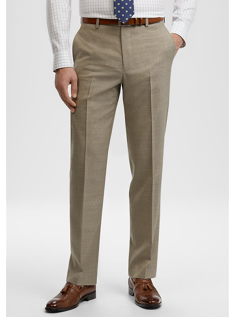 Reserve Collection Tailored Fit Flat Front Dress Pants