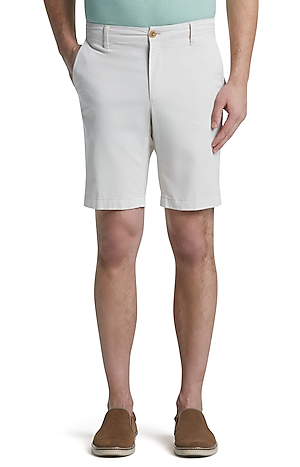 Men's Pants, 1905 Collection Tailored Fit Flat Front Shorts - Jos A Bank