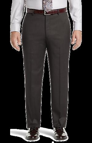 Men's Pants, Signature Collection Tailored Fit Flat Front Dress Pants - Jos A Bank