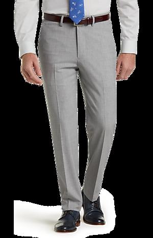 Men's Pants, 1905 Collection Slim Fit Flat Front Stretch Dress Pant - Jos A Bank