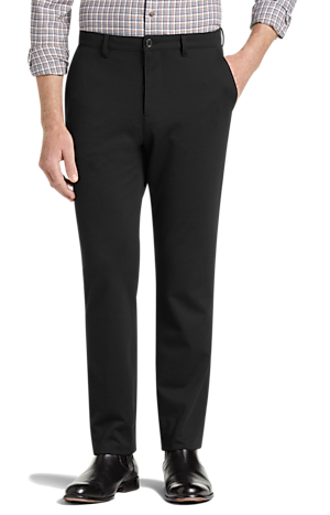 Men's Pants, 1905 Collection Slim Fit Flat Front Knit Casual Pant - Jos A Bank