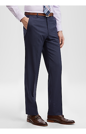 Men's Pants, Reserve Collection Slim Fit Flat Front Dress Pants - Jos A Bank