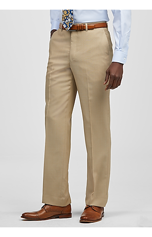 Men's Pants, Reserve Collection Tailored Fit Flat Front Dress Pants - Jos A Bank