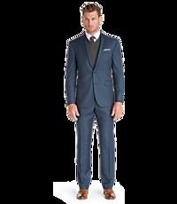 Men's Suits, Traveler Collection Slim Fit Sharkskin Suit - Jos A Bank