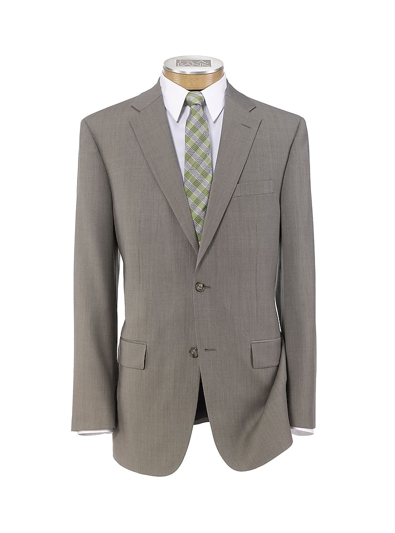 Traveler Collection Slim Fit Sharkskin Suit
