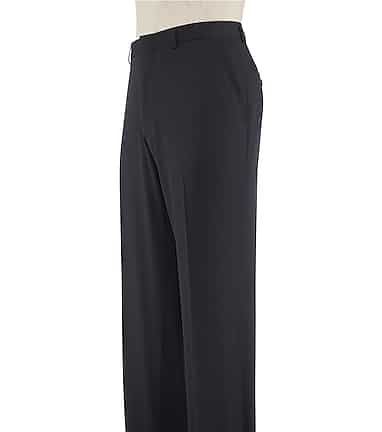 761098923fed52 Traveler Collection Slim Fit Flat Front Washable Wool Dress Pants CLEARANCE  #2JR3