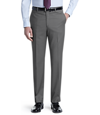 Signature Collection Tailored Fit Flat Front Pants