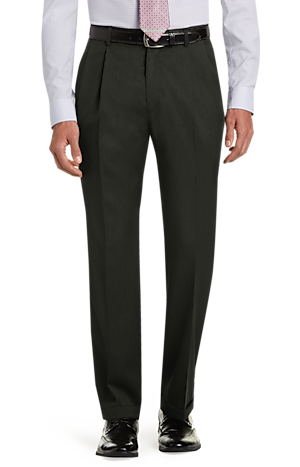Men's FLYOUT_CATEGORY, Signature Collection Traditional Fit Pleated Front Dress Pants - Big & Tall - Jos A Bank