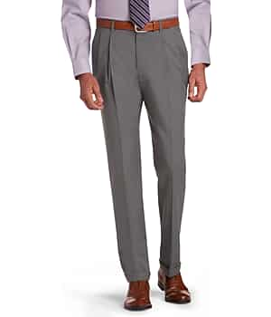 Signature Collection Traditional Fit Pleated Dress Pants