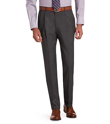 3ab90626 Signature Collection Traditional Fit Pleated Dress Pants