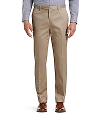 Men's Pants, Traveler Collection Tailored Fit Flat Front Twill Pants - Jos A Bank