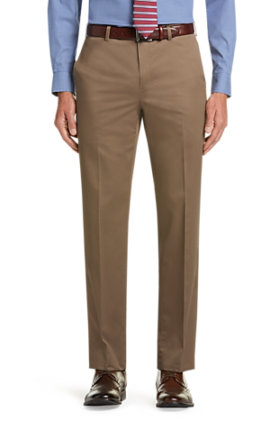 Men's FLYOUT_CATEGORY, Traveler Collection Tailored Fit Flat Front Twill Pants - Big & Tall - Jos A Bank