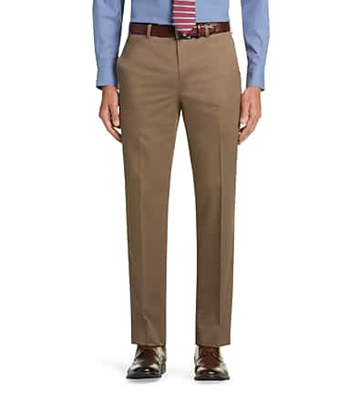 a68cd7fa657e7d Traveler Collection Tailored Fit Flat Front Twill Pants - Traveler ...