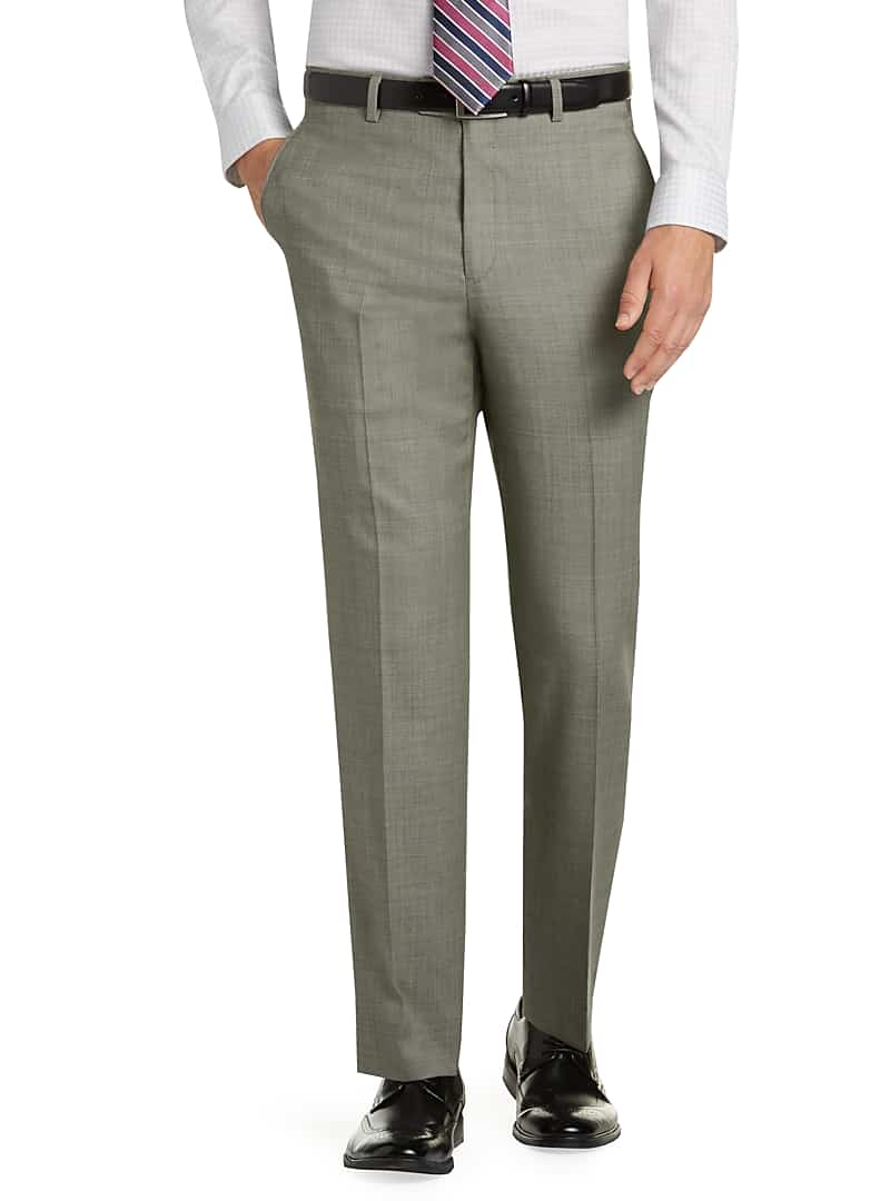Traveler Collection Tailored Fit Flat Front Dress Mens Pants